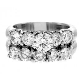3.00cttw Round Cut Diamond 2pc. Engagement Ring Set 14K White Gold