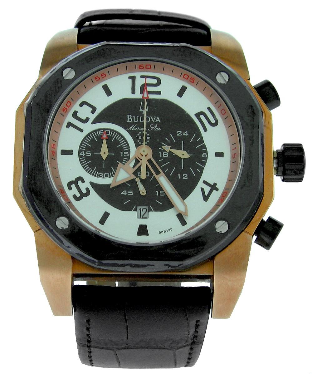 bulova marine mens 98b138 luxury watches