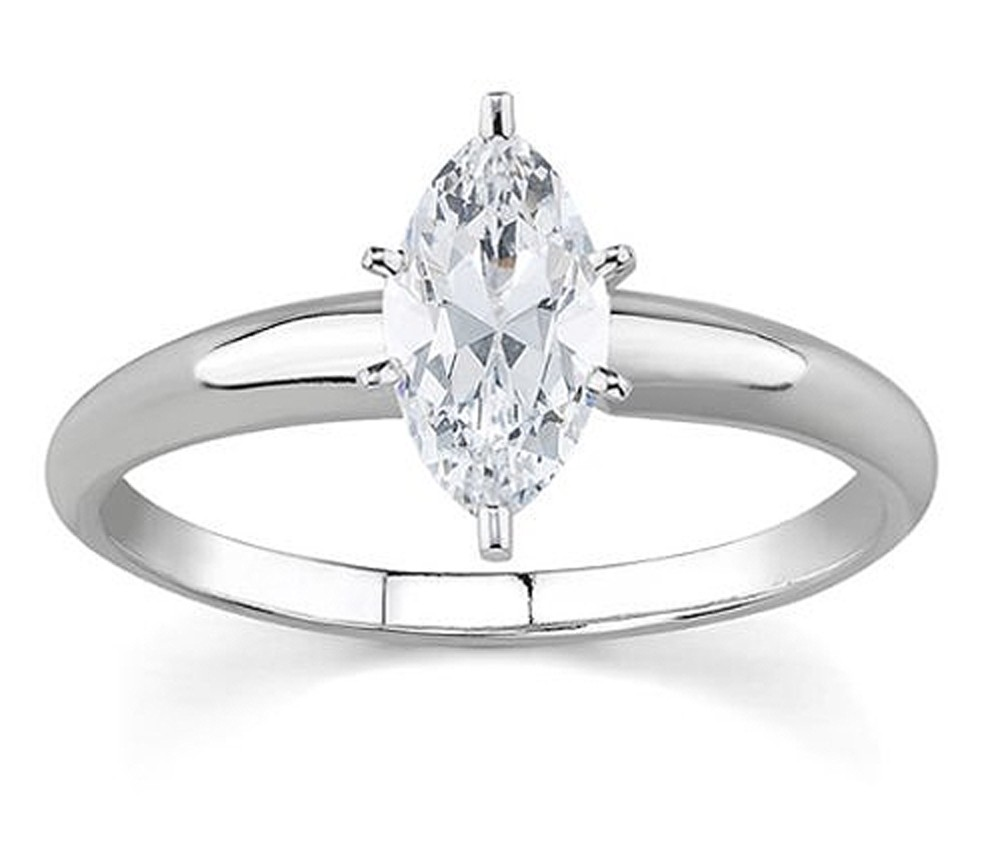 1 00ct Marquise Shape Diamond Solitaire Engagement Ring