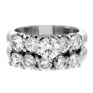 3.00cttw Round Cut Diamond 2pc. Engagement Ring Set 14K White Gold