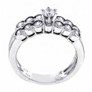 1.13ct Round Brilliant Cut Bezel Diamond Engagement & Band Set