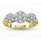1.75cttw Round Cut Diamond Engagement Ring in 14K Yellow Gold